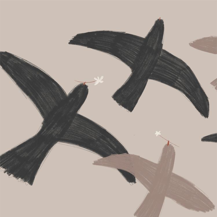 Flyttfåglar 70x50