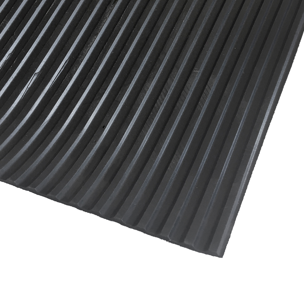 Medium grooved rubber sheet