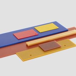 Polyurethane plates 200×200x15mm 80 shore A