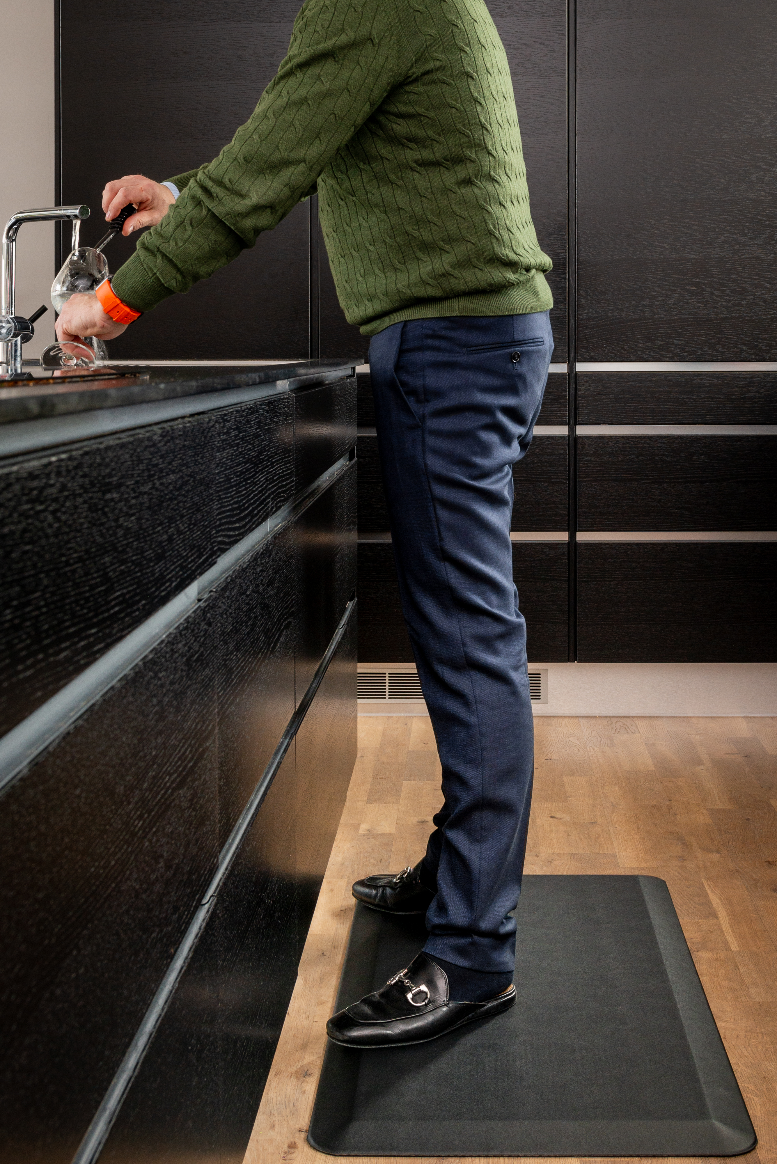 Home-Step Ergonomiskmatta i Polyuretan svart 51x99cm