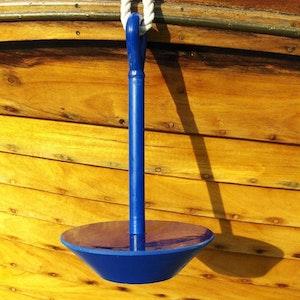 Plate anchor Softdish in solid polyurethane Blue