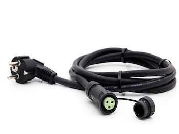 Power cable for heating mat is available with or without ground cable