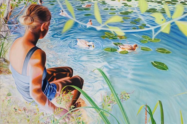 Girl with Ducks