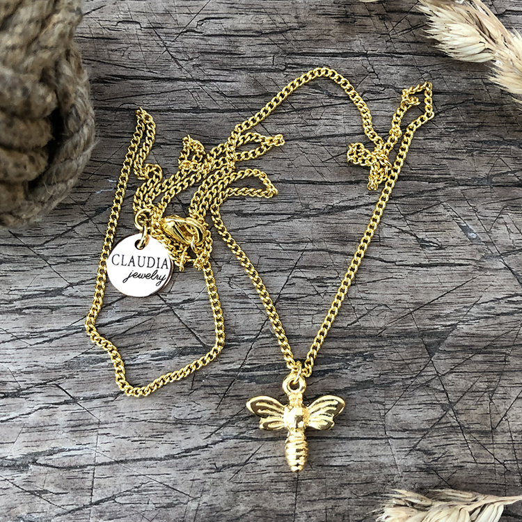 Halsband med bi, guld