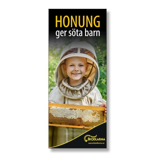 Tygvepa: Honung ger söta barn 50x120 cm