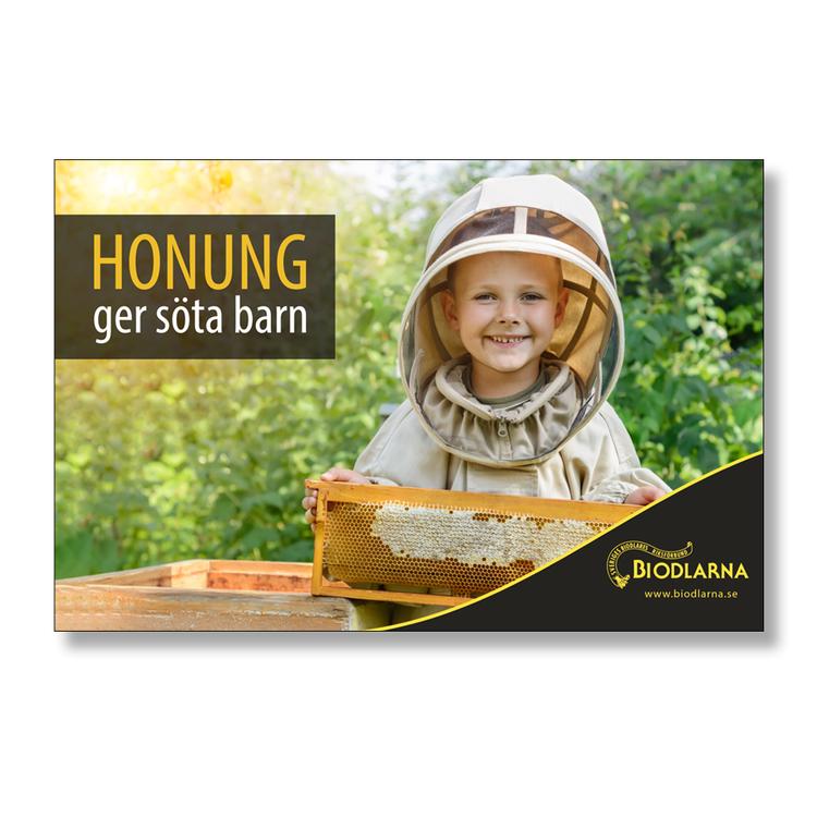 Banderoll: Honung ger söta barn 3x2 m
