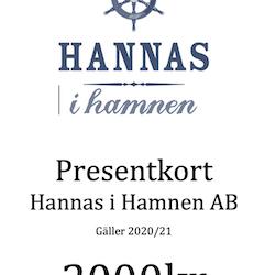 Presentkort Hannas i Hamnen