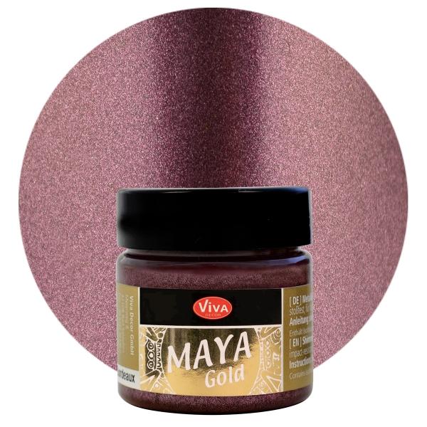 Viva Decor Maya Gold Bordeaux
