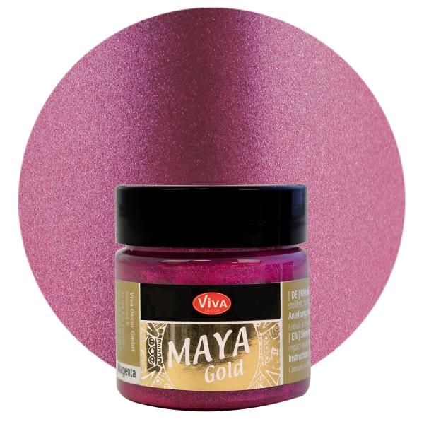 Viva Decor Maya Gold Magenta
