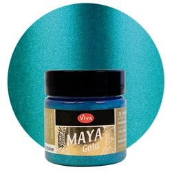 Viva Decor Maya Gold Turquoise