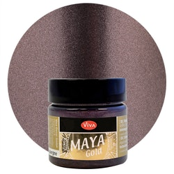 Viva Decor Maya Gold Aubergine