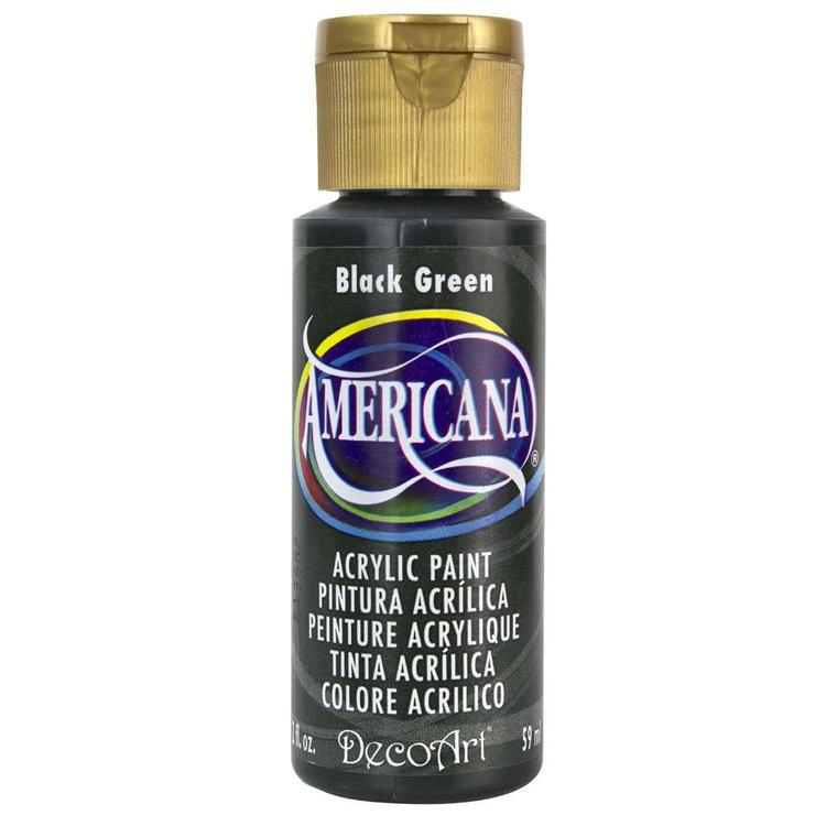 DecoArt Americana Black Green