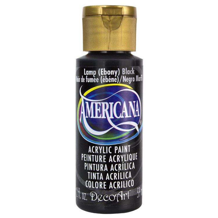 DecoArt Americana Lamp (Ebony) Black 59ml - Svart