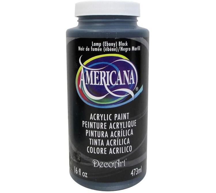 DecoArt Americana Lamp (Ebony) Black 473ml - Svart