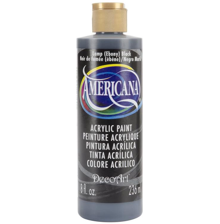 DecoArt Americana Lamp (Ebony) Black 236ml - Svart