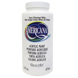 DecoArt Americana Snow (Titanium) White 473ml - Vit