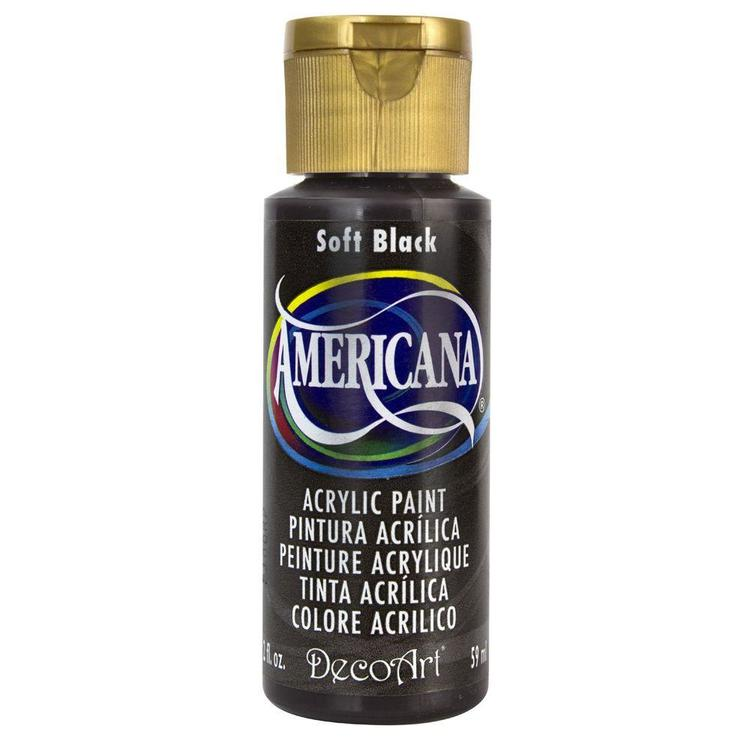 DecoArt Americana Soft Black
