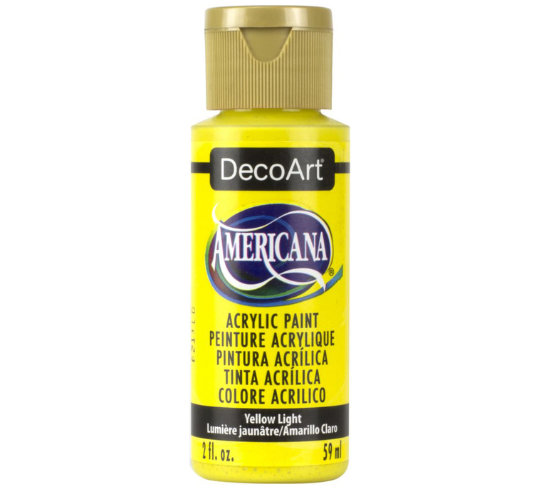 DecoArt Americana Yellow Light