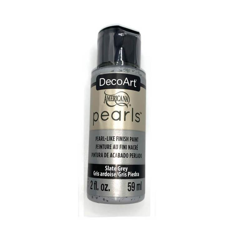 DecoArt Pearls Slate Grey