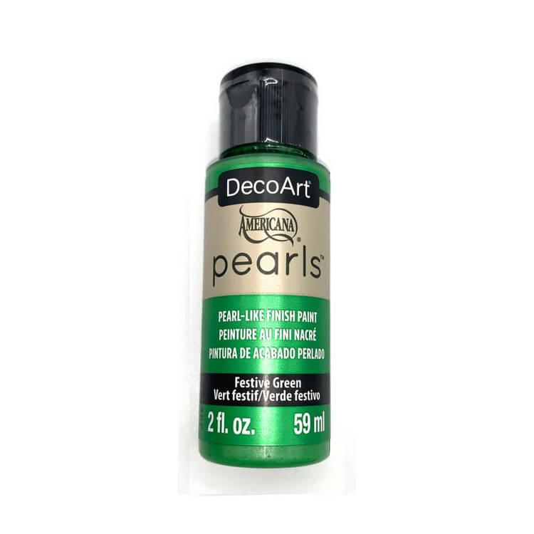 DecoArt Pearls Festive Green