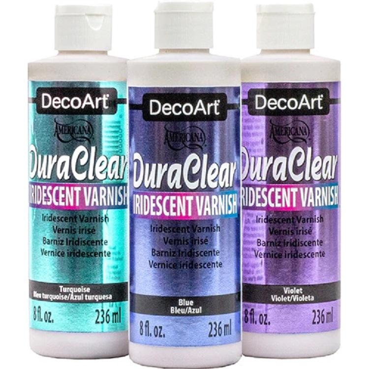 DecoArt Iridescent Varnish Turquoise 59ml
