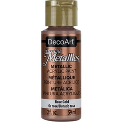 DecoArt Dazzling Metallics Rose Gold