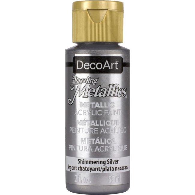 DecoArt Dazzling Metallics Shimmering Silver