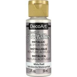 DecoArt Dazzling Metallics White Pearl