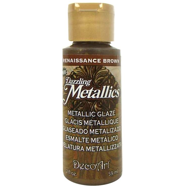 DecoArt Dazzling Metallics Renaissance Brown