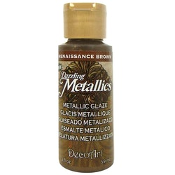 DecoArt Dazzling Metallics Renaissance Brown