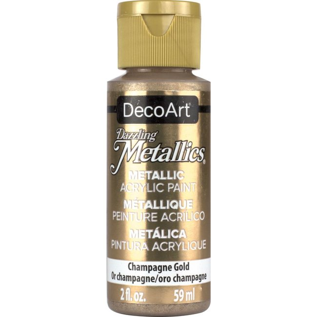 DecoArt Dazzling Metallics Champagne Gold