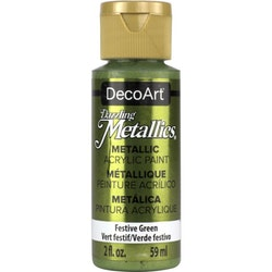 DecoArt Dazzling Metallics Festive Green
