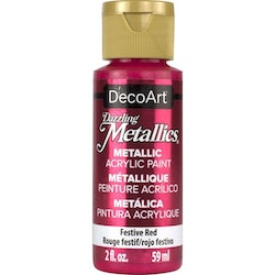 DecoArt Dazzling Metallics Festive Red
