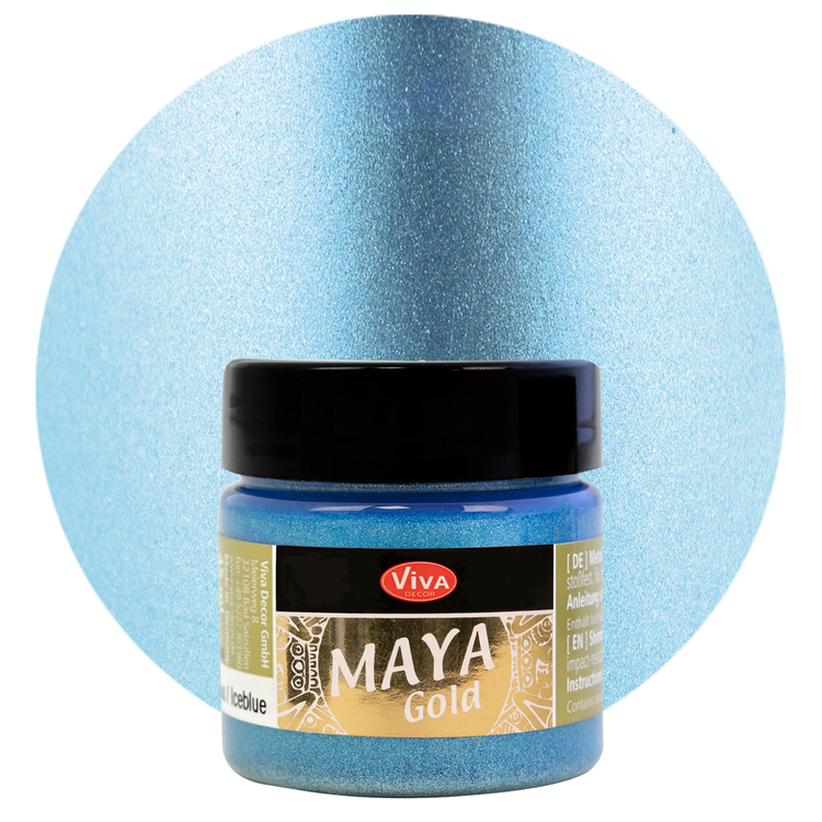 Viva Decor Maya Gold Ice Blue