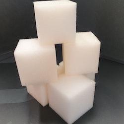 Viva Decor 6-pack kubformade svampar 4x4 cm