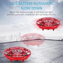 Mini Drönare / UFO IR Sensorer, För Hela Familjen! Röd