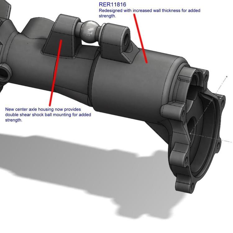 RedCat Front/Rear Heavy Duty Axle Housing RER11939, Inklusive RER11816 & RER11819