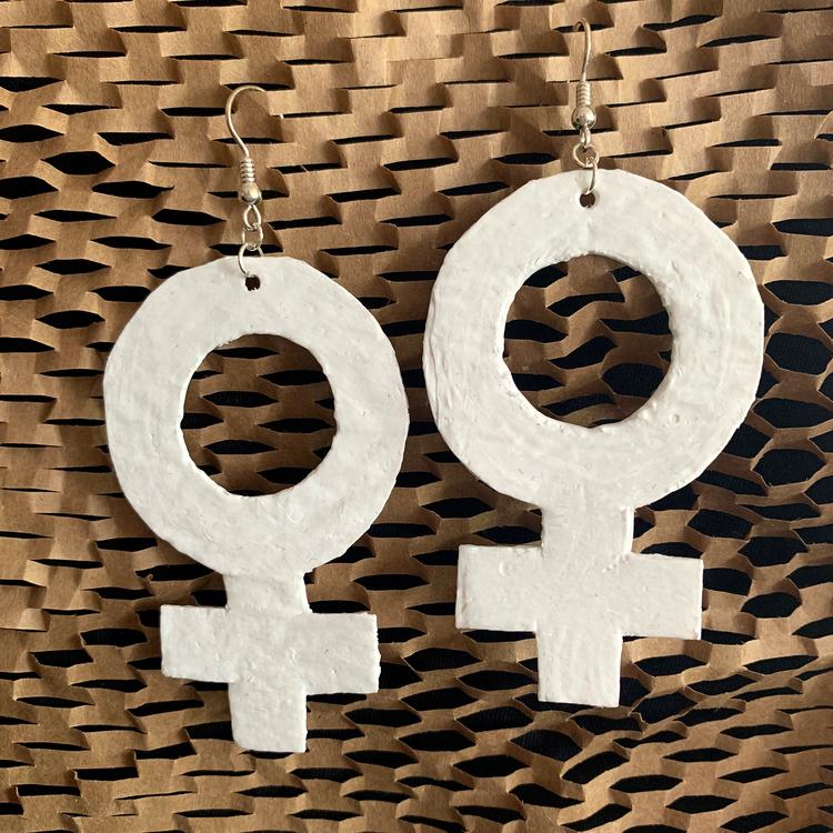 """Örhängen """"Kvinnosymbol"""" – 24 lager plastpåse"""