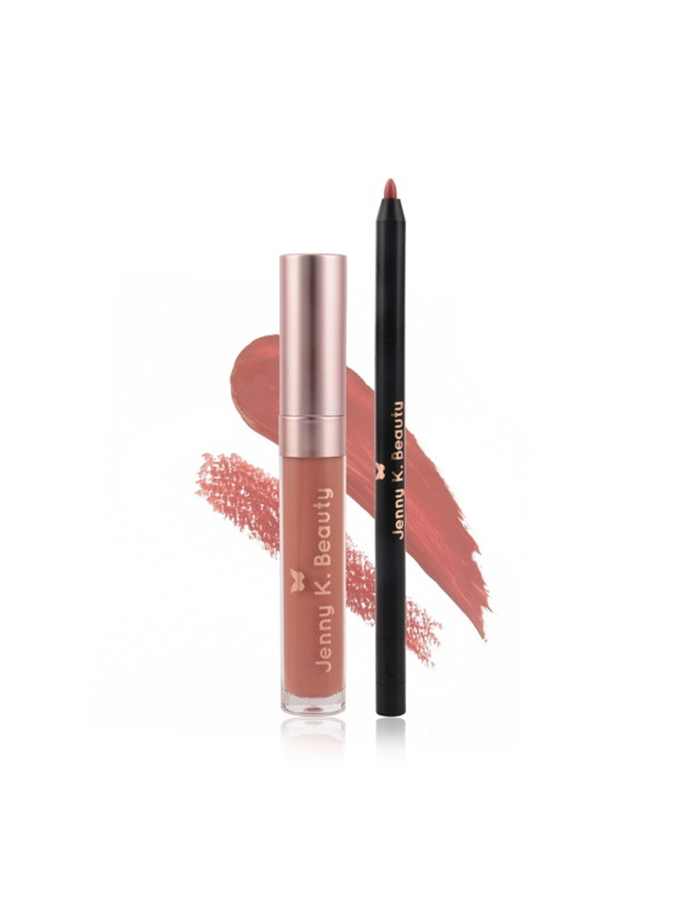 Loving Life Lip Kit ~ Matte Liquid Lipstick + Lip Liner 02. Nordic Nude
