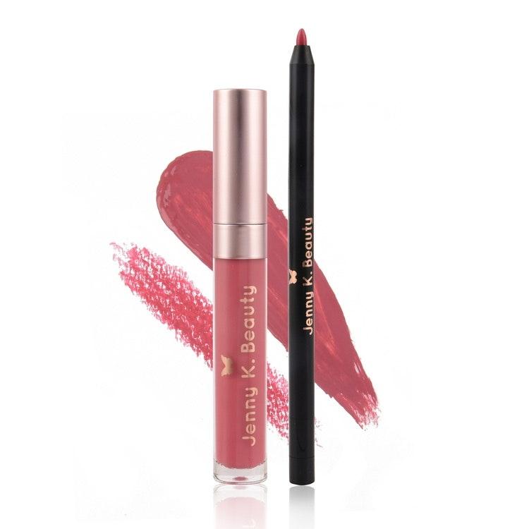 Loving Life Lip Kit ~ Matte Liquid Lipstick + Lip Liner 03. Royal Rose
