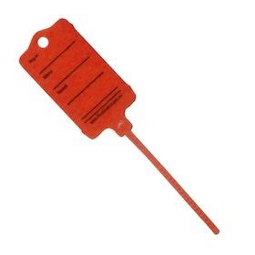 Keytag i Röd Plast