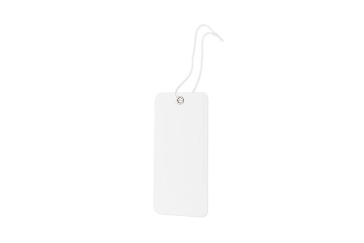 Nyckelmärkning, vit utan tryck