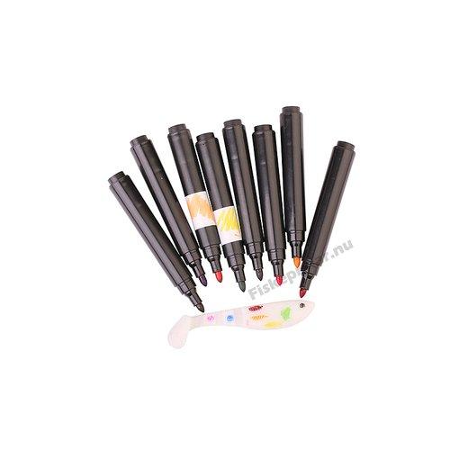 D-SG Magic Softlure Marker Kit 4pcs (Orange, Green,Black,Blu