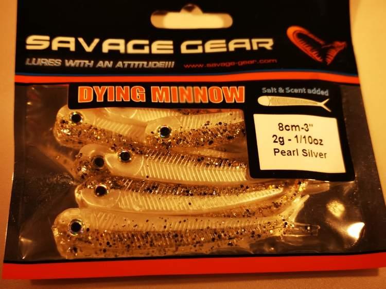 SG LB Dying Minnow 8cm 8pcs Pearl Silver