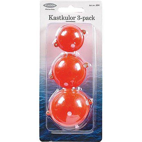 Kastkula röd 3-pack