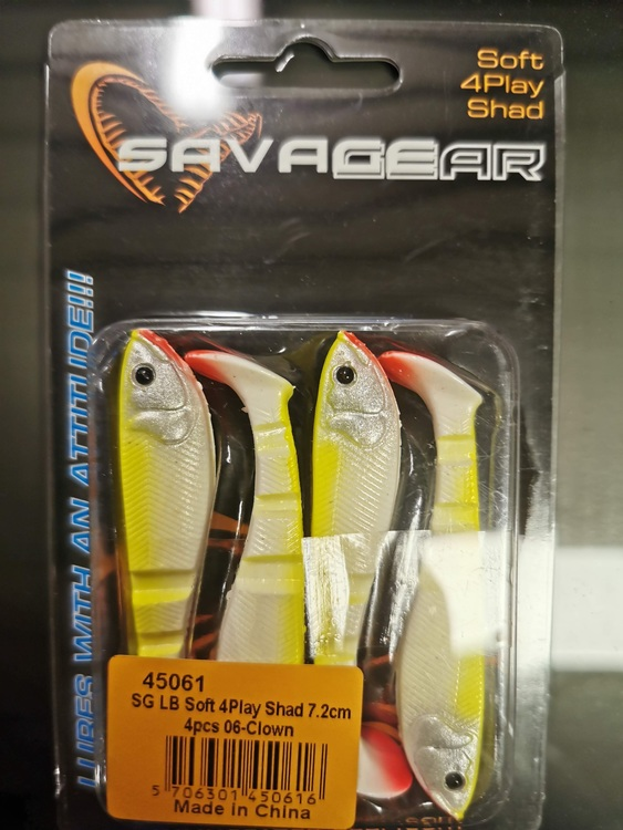 SG LB Soft 4-play shad 7,2 cm, 4pcs