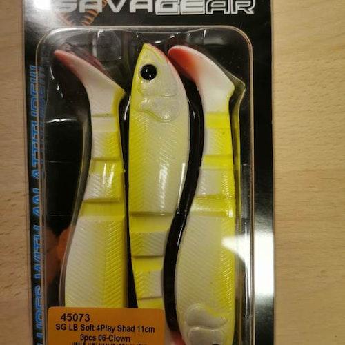SG LB Soft 4-play shad 11cm, 3pcs