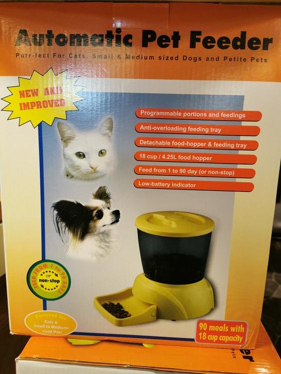 Automatisk djurmatare (hund, katt)