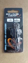 SG cork screw shad spin rig
