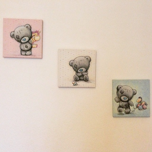 Me To You – Canvas nalle med napp